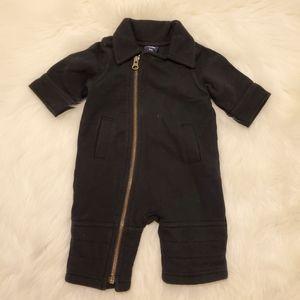 Baby Gap Black Asymetric Zip Up Onesie Bodysuit